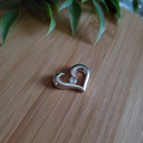 METALSMITHS | 925 Sterling Cubic Heart Pendant